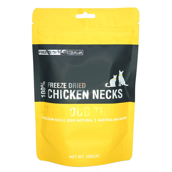 Freeze Dried Chicken Necks 100G