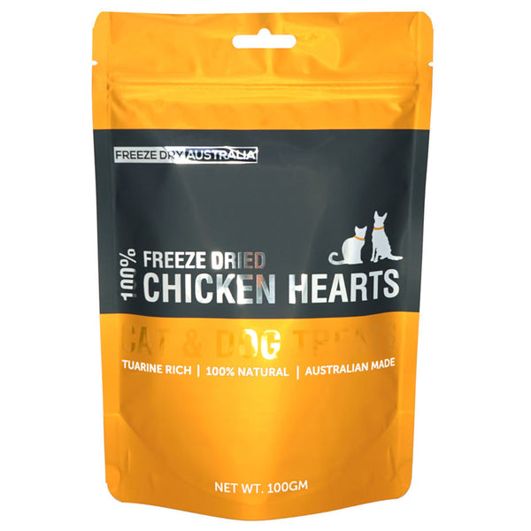 Freeze Dried Chicken Hearts 100G