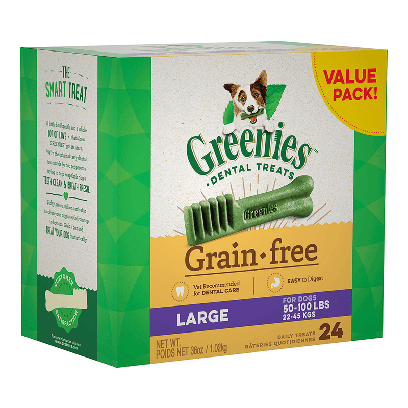 Greenies Grain Free Large Dog Dental Treat Value Pack 1kg Box