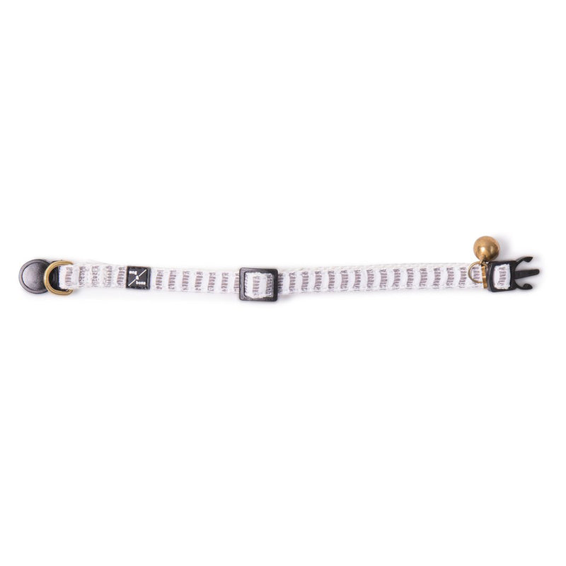 Hemp Cat Collar - Latte White Mosaic