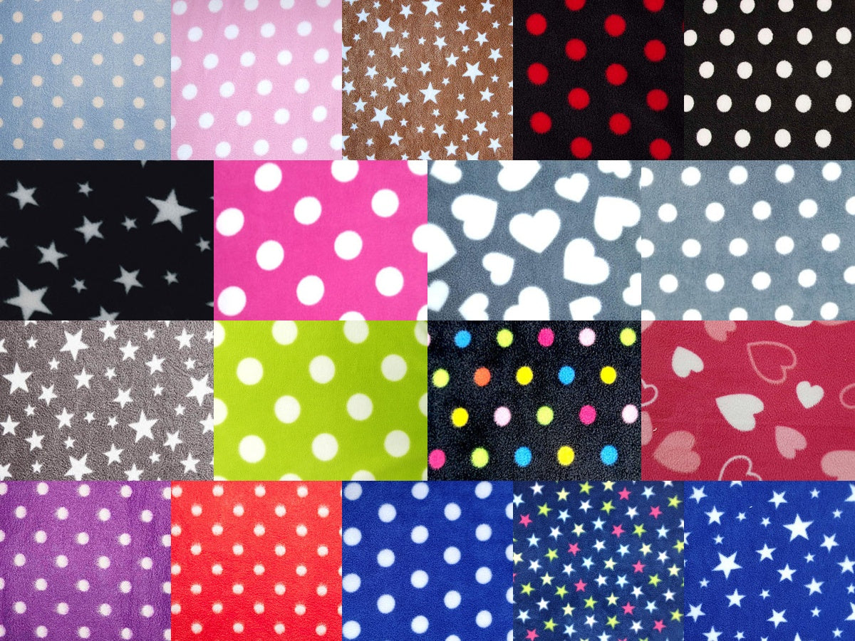 Hearts, Spots and Stars Fleece Swatch Image