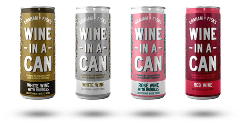 graham and fisks wine in a can