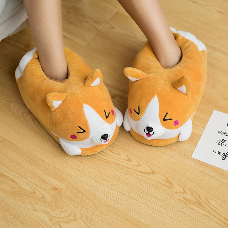 Dog Corgi Indoor Slippers - E4PetLife