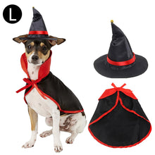 Load image into Gallery viewer, Pet Halloween Vampire Cloak & Hat Costume Set - E4PetLife