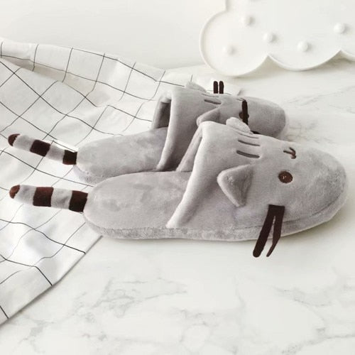Warm Grey Cat Slippers - E4PetLife