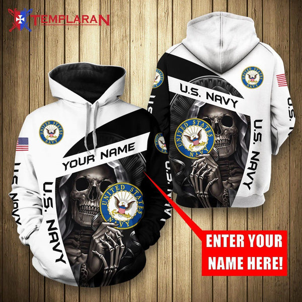 PERSONALIZED NAME U.S. NAVY 3D FULL PRINTING