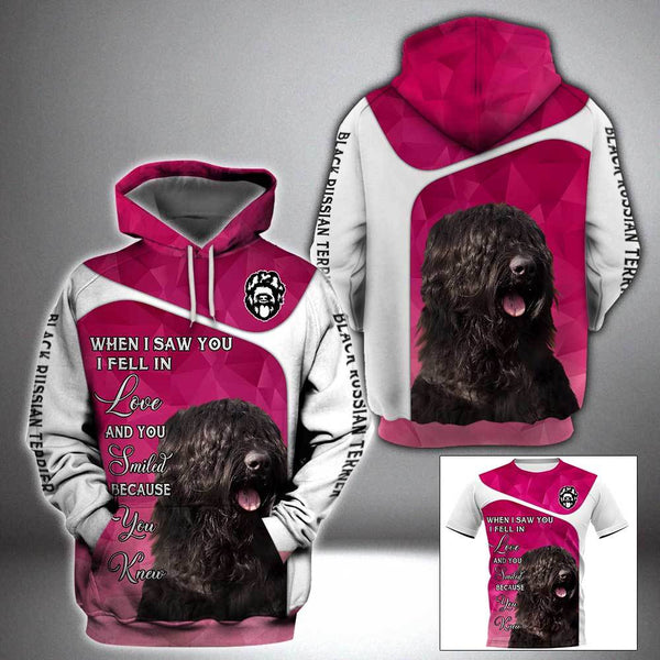 BLACK RUSSIAN TERRIER When I saw you 3D Full Printing