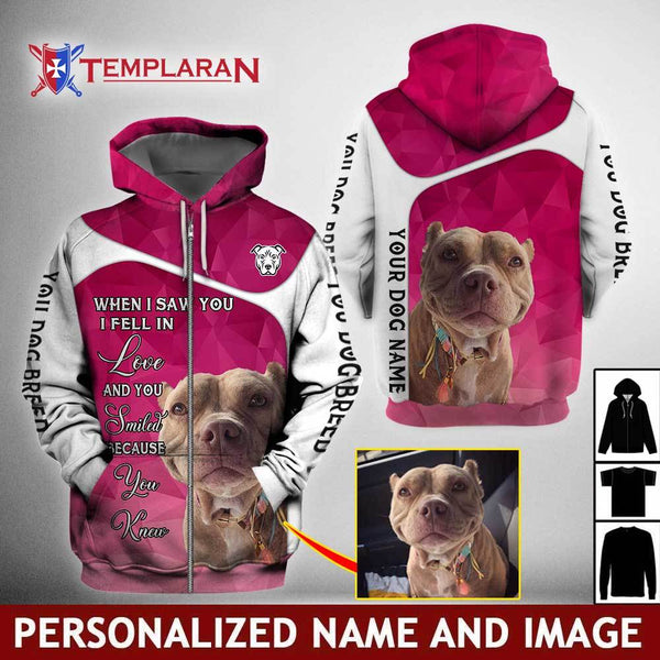 CUSTOMIZE IMAGE AND NAME DOG When I saw you 3D Full Printing