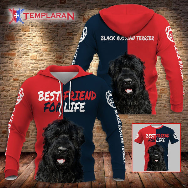 BLACK RUSSIAN TERRIER Best Friend 3D Full Printing