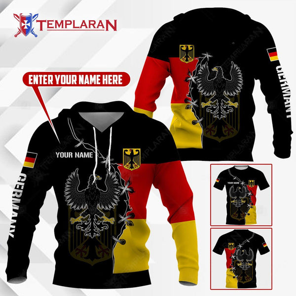 GERMANY GOLDEN EAGLE HOODIES AND T-SHIRTS 3D Full Printing
