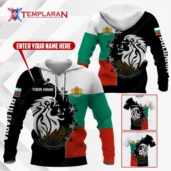 BULGARIA LION Hoodies and T-shirts 3D Full Printing