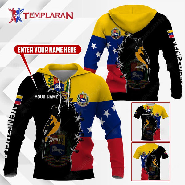 VENEZUELA TROUPIAL HOODIES AND T-SHIRTS 3D Full Printing