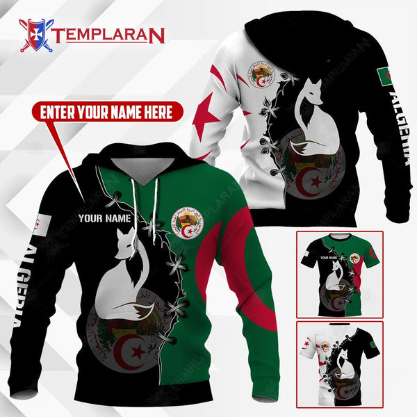 ALGERIA FENNEC FOX HOODIES AND T-SHIRTS 3D Full Printing