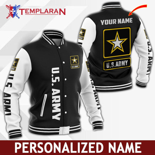 Personalized Name U.S. Army Jacket 3D Full Printing