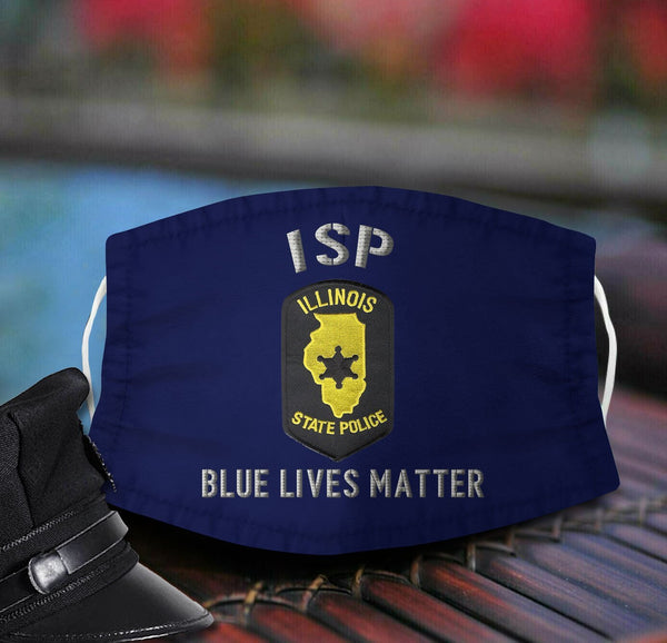 Illinois State Police Fabric Face Mask