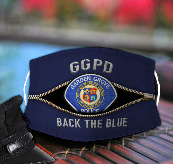 Garden Grove Police Department Fabric Face Mask TDH