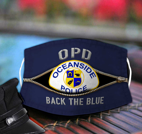 Oceanside Police Department Fabric Face Mask TDH