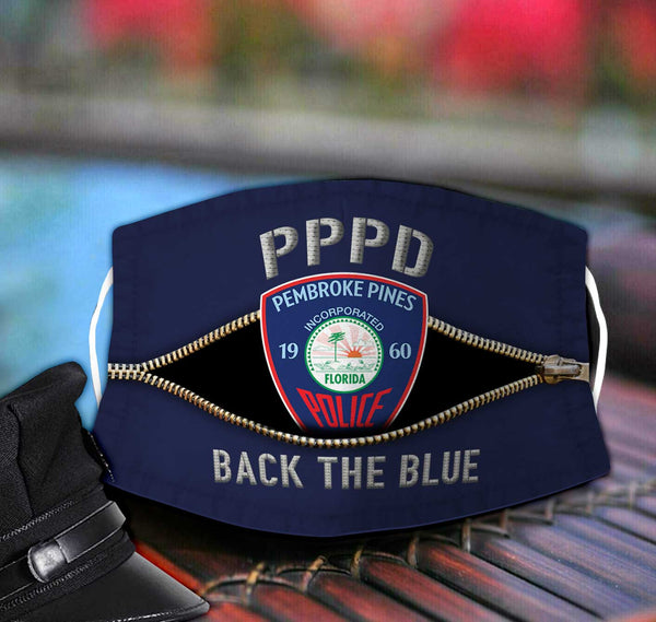 Pembroke Pines Police Department Fabric Face Mask TDH