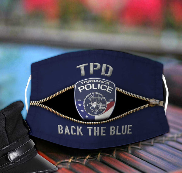 Torrance Police Department Fabric Face Mask TDH