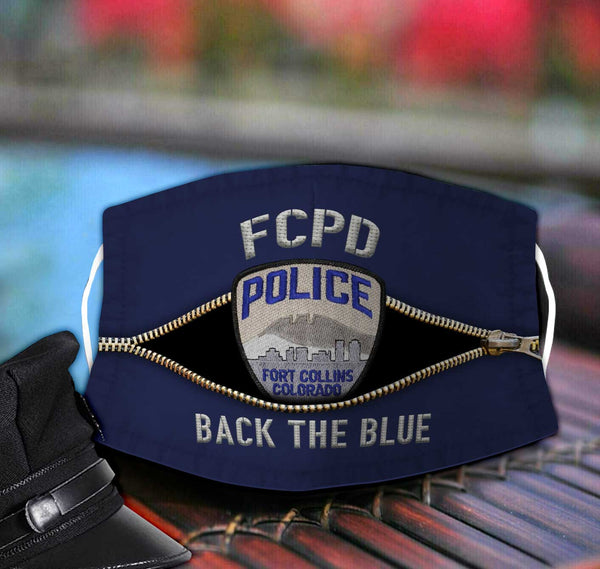 Fort Collins Police Department Fabric Face Mask TDH