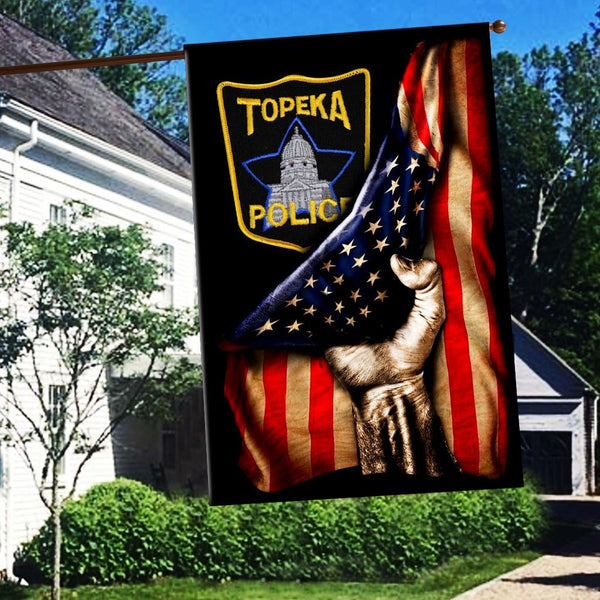 Topeka Police Department Flag 3D Full Printing