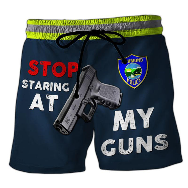 Richmond Police Department 3D Short Pant Full Printing