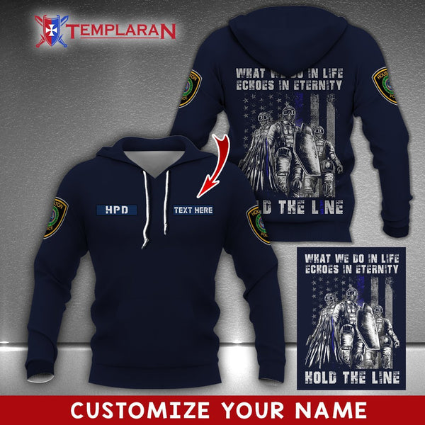 PERSONALIZED NAME Houston Police Department 3D FULL PRINTING