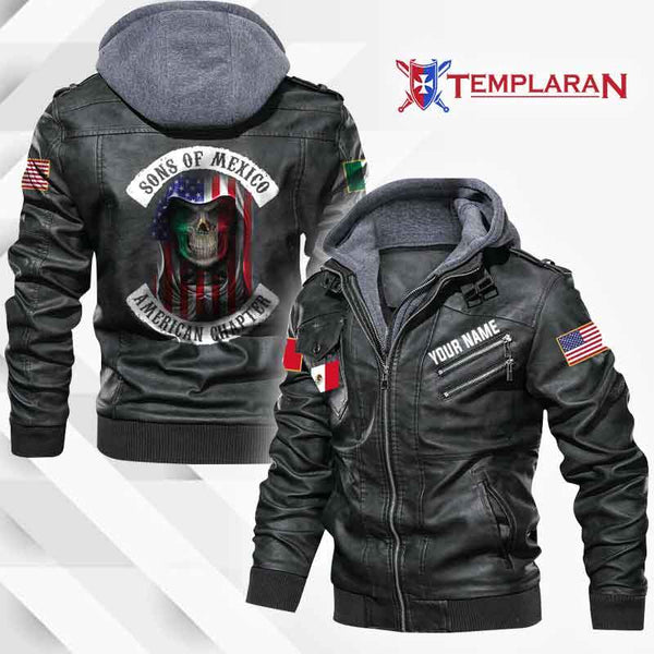 MEXICO Leather Jacket Hoodie