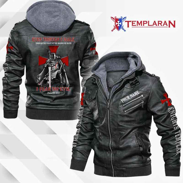 KNIGHTS TEMPLAR Leather Jacket Hoodie