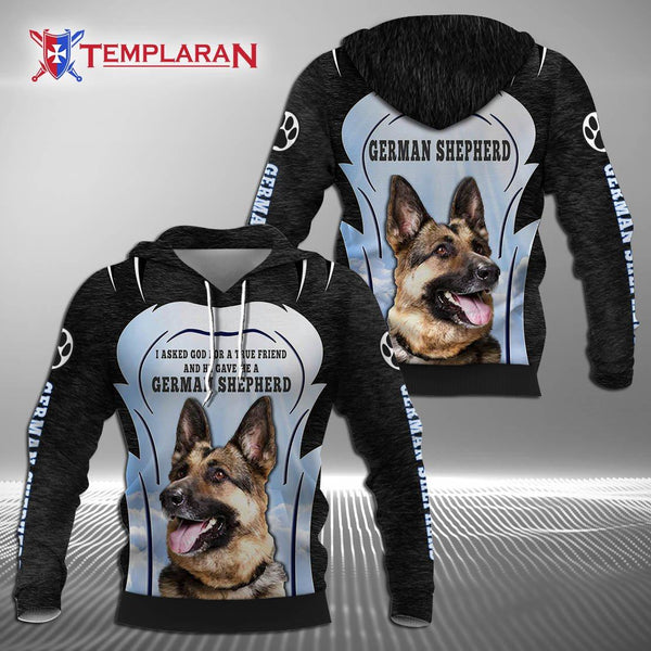 German Shepherd 3D Full Printing