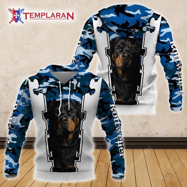 Rottweiler hoodie, edition 3D Full Printing