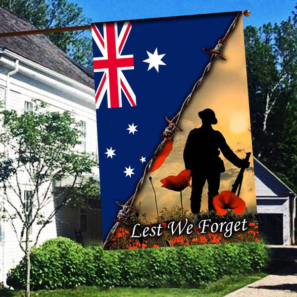 ANZAC DAY LEST WE FORGET AUSTRALIAN Flag 3D Full Printing