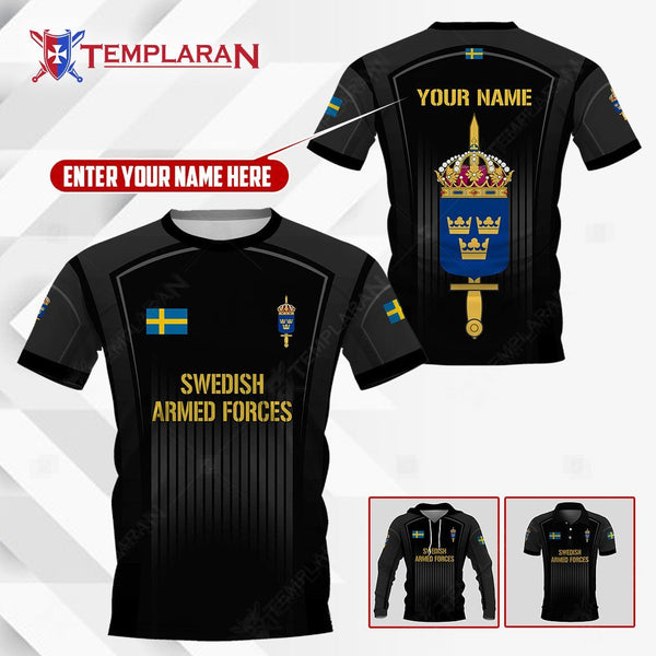 PERSONALIZED NAME SWEDISH ARMED FORCES 3D Full Printing