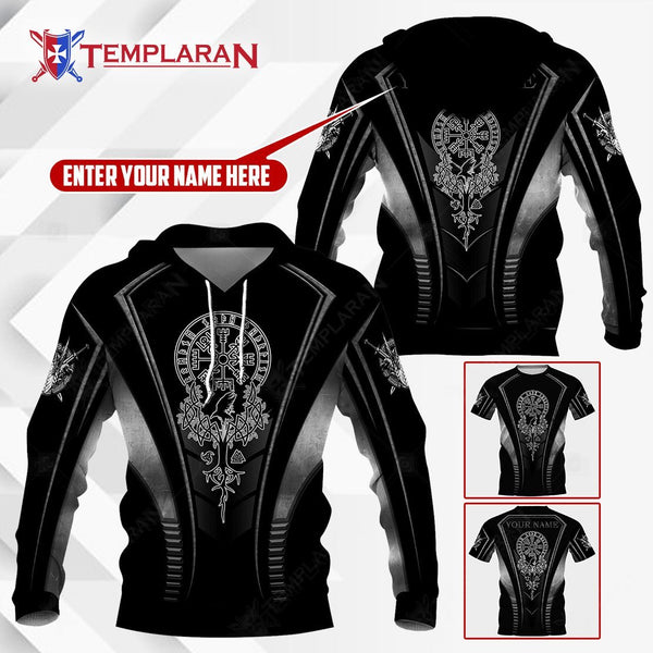 PERSONALIZED NAME VIKING HOODIE AND TEE SHIRT 3D Full Printing NTP-TP0319