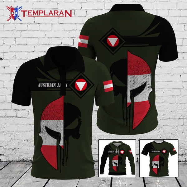 Austrian Army Hoodie Polo 3D Full Printing