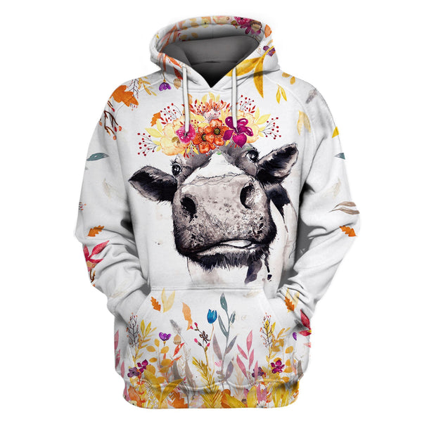 Cow Farm Flower Limited Edition 3D Full Printing
