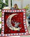 Cow I love you to the Moon and back blanket HQT-QVK00093