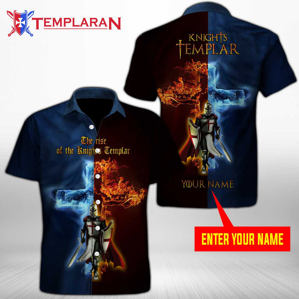 Personalizer Name Knight Button Shirt 3D Full Printing