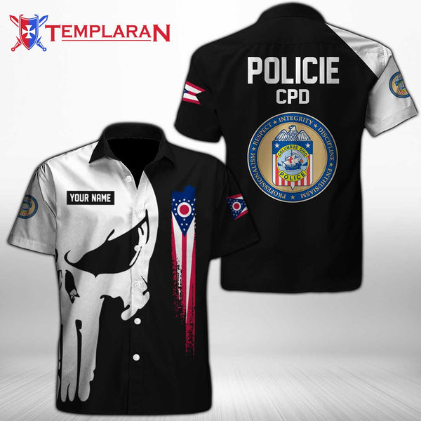 PERSONALIZED NAME  Columbus Division of Police Button Shirt 3D Full Printing