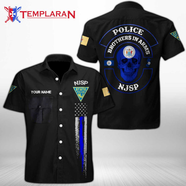 Personalizer Name New Jersey State Police  Button Shirt 3D Full Printing TDH