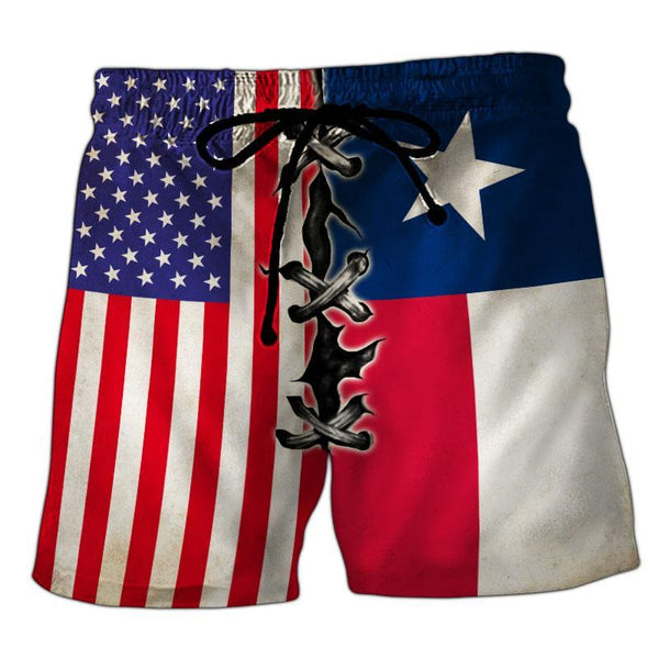 Texas Flag 3D Short Pant Full Printing