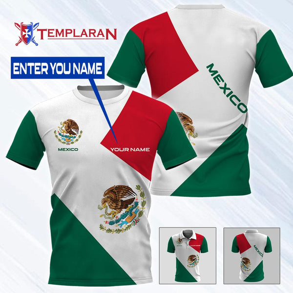 Customize Name Mexico Expat 3D Full Printing