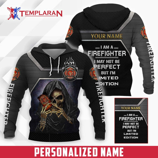 Customize Name firefighter Limited edition 3D Full Printing