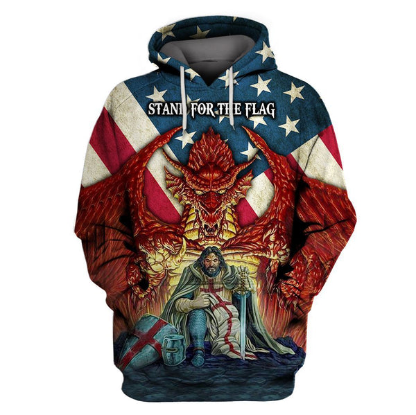 STAND FOR THE FLAG KNIGHT TEMPLAR HOODIE 3D TDQ-HN0008
