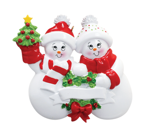 2 Snowmen Ornament