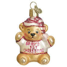 Load image into Gallery viewer, Baby's 1st Teddy Bear Christmas Ornament
