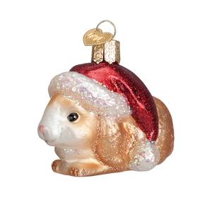 Christmas Lying Bunny Ornament