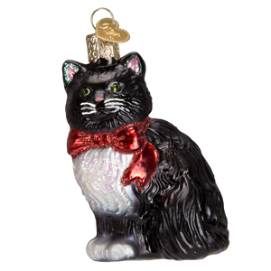 Tuxedo Kitty Christmas Ornament