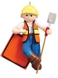 Construction Guy/Foreman/General Contractor Christmas Ornament