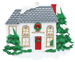 Two Story Home Ornament